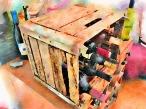 Milk Crate Wine Rack