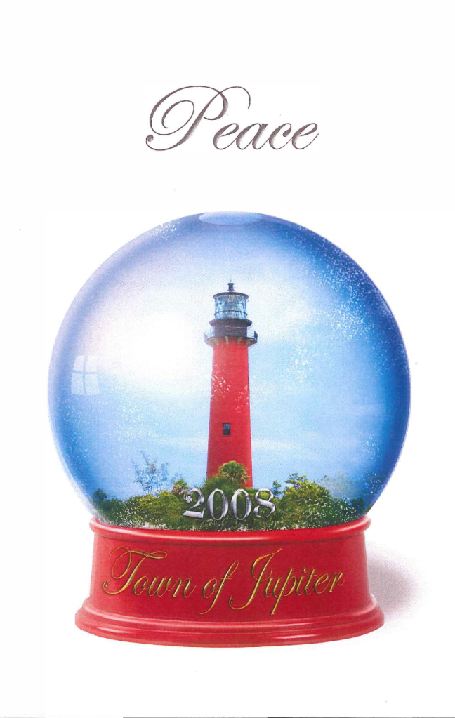 Holiday card for the Town of Jupiter
