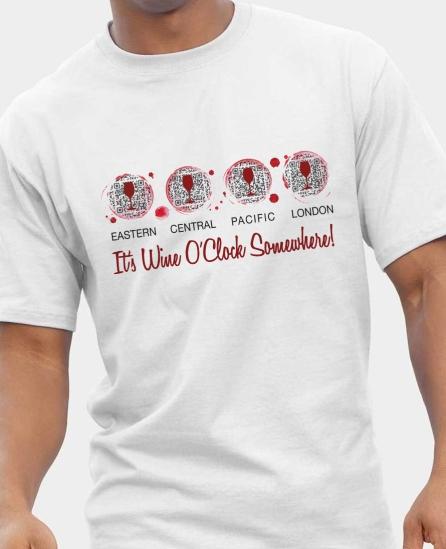 Accurate Wine O'Clock Tee