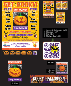 Print collateral, custom QR code, web graphics